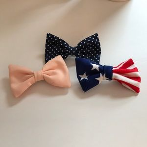American Apparel Set of (3) Hair Bow Clips